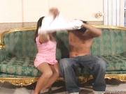 Asiático adolescente follada por su NOVIO