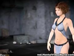 Image Three monster cocks for young hentai girl