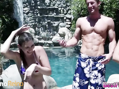Image Sweet and horny Teens gives a hot summer fucking action