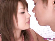 Pequeña estrella porno japonesa Mei Aso facialized