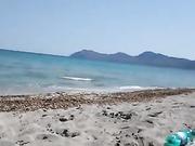 Mamada de playa y corrida