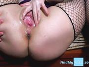 Candy jugando con su consolador y squirting en la webcam